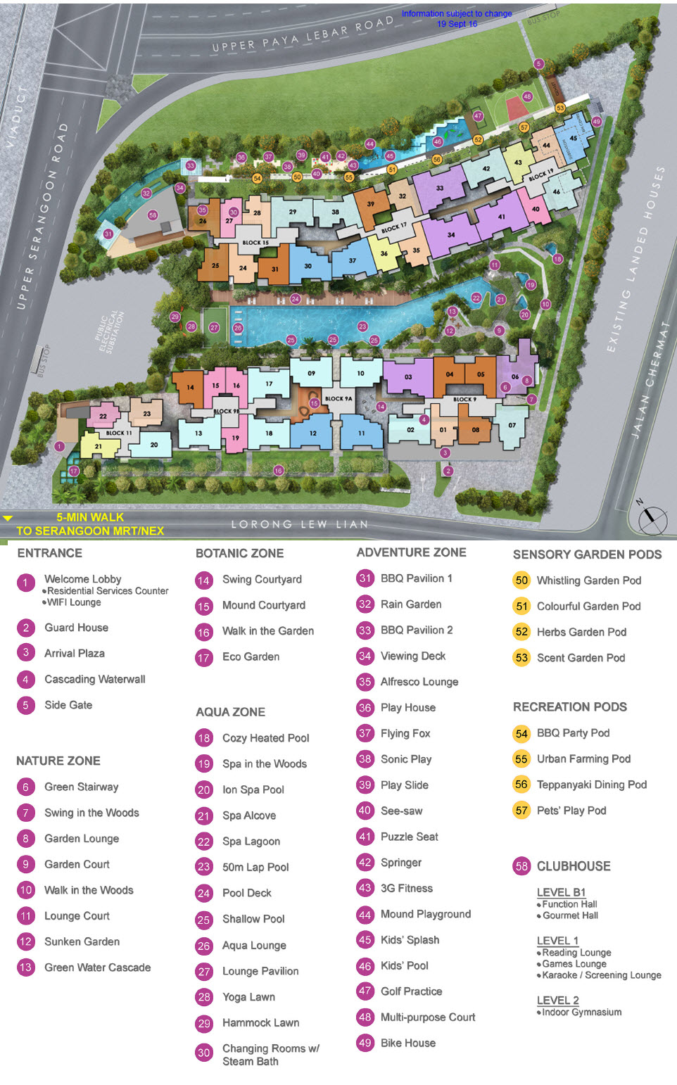 Forest Woods Site Plan with facilities such as 24 hours gym and concierge services